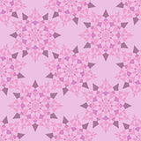 Abstract star pattern pink shades Royalty Free Stock Image