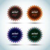 Abstract star seals. Abstract colorful star seals design Stock Photos