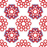 Abstract star seamless pattern. Abstract star in american flag color seamless pattern vector background Royalty Free Stock Photos