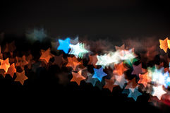 Abstract star shape bokeh background of Kuala Lumpur Royalty Free Stock Image