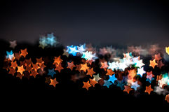 Abstract star shape bokeh background of Kuala Lumpur Royalty Free Stock Photo