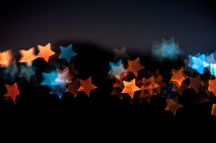 Abstract star shape bokeh background of Kuala Lumpur Royalty Free Stock Images