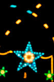 Abstract star shape bokeh light night. Stock Photos