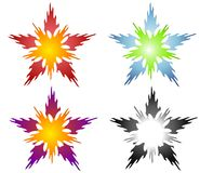 Abstract Star Shaped Elements Royalty Free Stock Photos