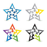 Abstract star sign. Vector illustration Stock Images