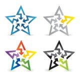Abstract star sign. Vector illustration royalty free illustration