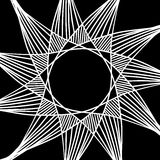 Abstract star vector design of white stripes on black background Stock Photography