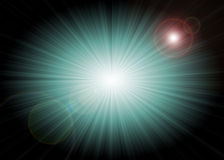 Abstract starburst background. With artificial lens flares Stock Photos