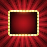 Abstract starburst background with neon frame Stock Image
