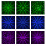 Abstract starburst green blue and purple Royalty Free Stock Photo