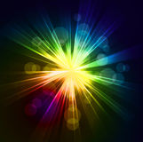 Abstract  starburst light background Stock Images