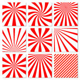 Abstract starburst red background. Radial lines in Stock Photo