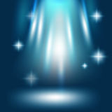 Abstract Stardust Blue Light Background Vector Stock Photography