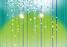 Abstract starlight background. Abstract colorful starlight on green light background Royalty Free Stock Images