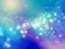 Abstract starry background. Stars shining on abstract blue and purple background Royalty Free Stock Photography