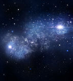 Abstract starry blue background Stock Photo