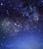 Abstract starry blue background Stock Photography