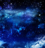 Abstract starry blue background Royalty Free Stock Image