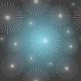 Abstract starry background. Abstract starry seamless background with stylized stars Royalty Free Stock Image