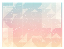 Abstract Starry sky, minimal constellations , pastel sky wallpap. Er - Vector file EPS10 Stock Image