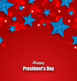 Abstract Stars Background for Happy Presidents Day of USA Stock Photos