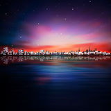 Abstract stars background with sunset in Tallinn Royalty Free Stock Photos