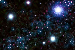 Abstract stars on a black background Royalty Free Stock Image