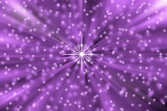 Abstract Stars Blast in Purple Background. Abstract image of bright stars and sparkles with blast effect in purple background vector illustration