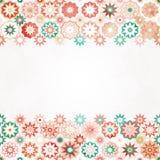 Abstract stars border seamless pattern Stock Image