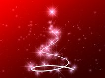 Abstract stars christmas tree Royalty Free Stock Images