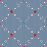 Abstract stars geometric retro seamless pattern Stock Images