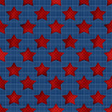 Abstract stars geometric retro seamless pattern background Royalty Free Stock Photo