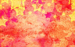 Abstract stars on the grunge Royalty Free Stock Photos