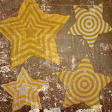 Abstract stars on grunge background Royalty Free Stock Photo