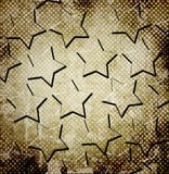 Abstract stars on grunge background Royalty Free Stock Image