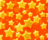 Abstract Stars Orange Background Stock Photo
