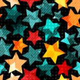 Abstract stars seamless Royalty Free Stock Images
