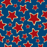 Abstract stars seamless background. Stock Photography