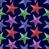 Abstract Stars seamless pattern background. The seamless night new year`s patterns on a blue background Stock Image