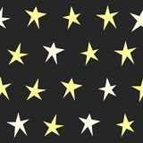 Abstract stars seamless pattern background. Stock Images
