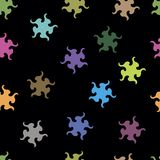 Abstract stars seamless texture Royalty Free Stock Photos