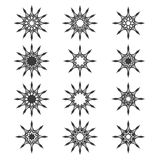 Abstract stars. Set of abstract stars for design (decoration Royalty Free Stock Images
