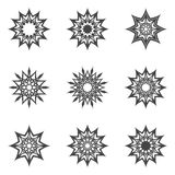 Abstract stars. Set of abstract stars for design (decoration Stock Images