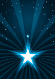 Abstract Stars Shine Spray_eps. Illustration of stars spray lines with loose stars. Center light blank is your sample text Royalty Free Stock Photography