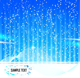 Abstract Stars  Snow Background. Vector stars illustration. Night blue sky and snow Stock Photo