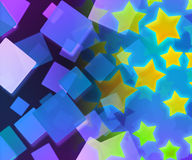 Abstract Stars Violet Background Stock Photography