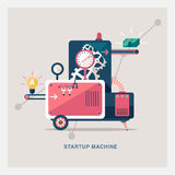 Abstract startup machine Stock Photo
