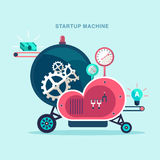 Abstract startup machine Royalty Free Stock Photography