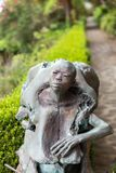 Abstract Statue  in botanical garden Monte of Funchal, Madeira. Royalty Free Stock Photography