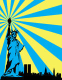 Abstract statue of liberty Royalty Free Stock Photo